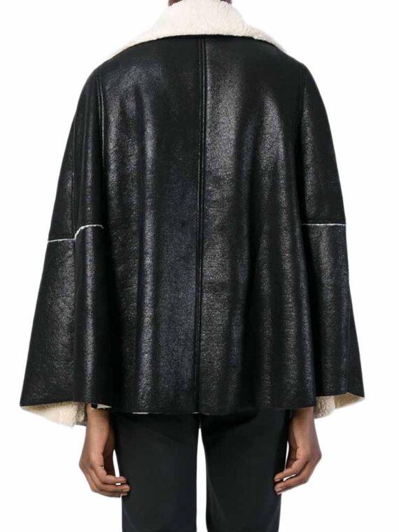 Cappotto Mantella nero latte 8PM donna tg 44 (M).Capospalla, tecnofibra, effetto scamosciato, senza applicazioni, tinta unita, collo con revers, monopetto