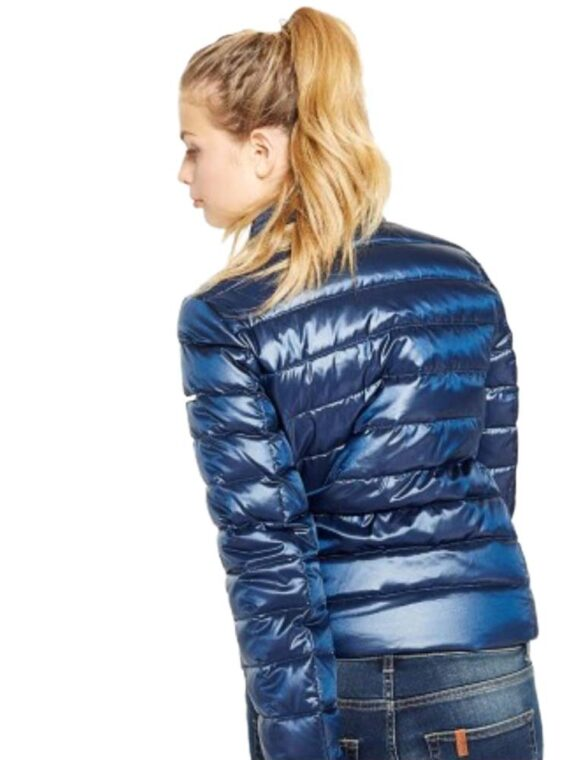 PIUMINO LIU JO LES PLUMES DE LIU JO BLU taglia 40 (XS).Piumino donna leggero con chiusura con zip e automatici, tasche e taschini sul davanti, colore blu