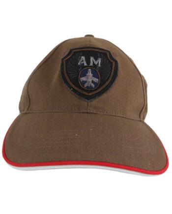 Cappellino Aeronautica Militare AM Marrone Cappello Visiera Uomo