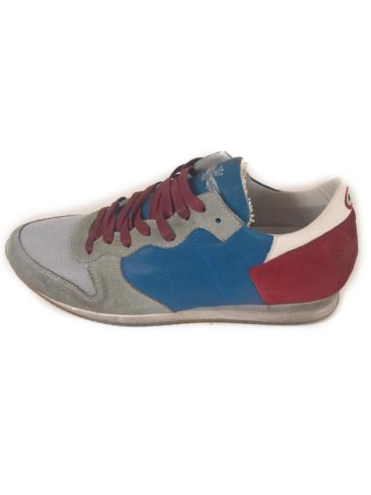 Scarpe aeronautica militare sneakers pelle blu rossa n 40 - La porta rossa replay ...