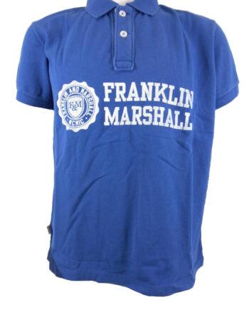 Polo Franklin Marshall Piquet Classic Blu Uomo Tg S,L,XL,2XL,3XL,Maglia Uomo cotone F&M,Abbigliamento Uomo Firmato,Miglior Prezzo,Acquisti Rapidi e Sicuri