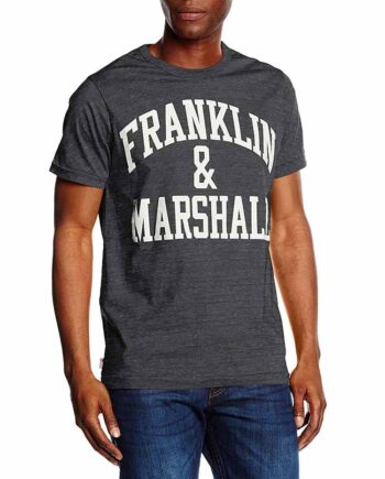 T-Shirt Franklin Marshall Uomo JERSEY ROUND Smoke Melange Tg S,Maglia Uomo cotone F&M,Abbigliamento Uomo Firmato,Miglior Prezzo,Acquisti Sicuri