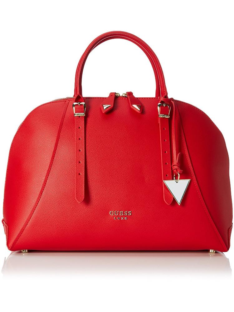 Borsa Guess Lady Luxe PELLE Dome Satchel Rossa A14 6 - Dresslix 3df04ce3d1f