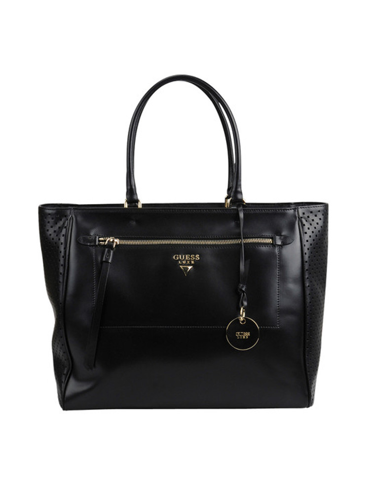 borsa guess in pelle nera