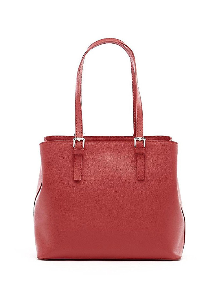 Rosso Donna G Guess Borse Nuovo Online Logo Cube Shopper