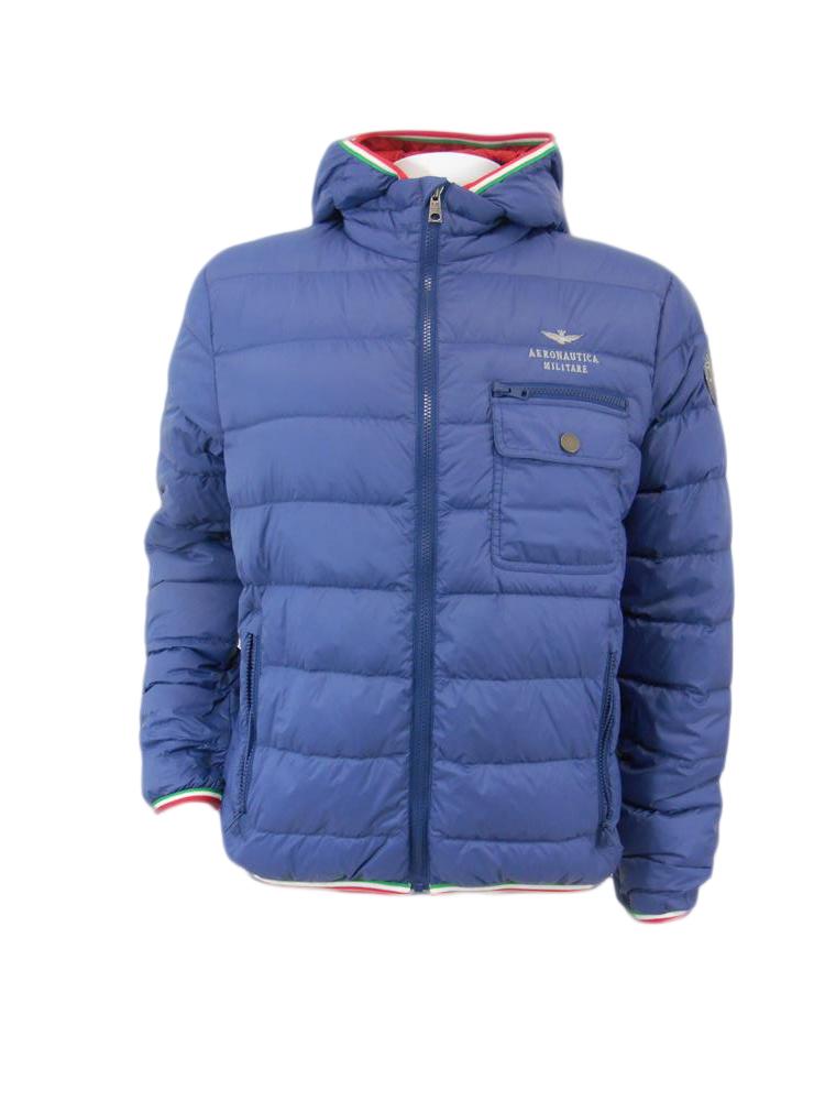 brand new a7f38 7bea8 Piumino 100 grammi AERONAUTICA MILITARE Cappuccio Blu tg L 50 I1/26