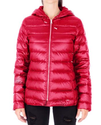 Piumino LIU JO Donna Rosso Ciliegia Lungo,piumino cappotto piuma liu jo,abbigliamento firmato prezzo più basso,acquisti sicuri,prezzi outlet liu jo