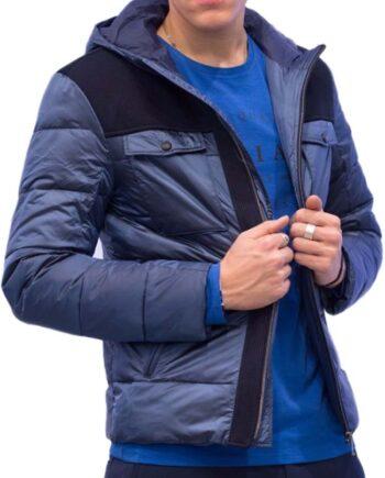 Giubbotto Piumino MARCIANO GUESS Uomo Blu Perlato,cappotto guess marciano uomo,abbigliamento firmato prezzo più basso,spedizione rapida,acquisti sicuri