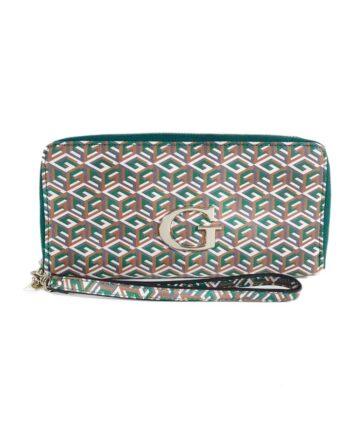 Portafoglio GUESS Donna Smeraldo Logo Geo Verde,portafoglio guess donna,accessori moda prezzo più basso,acquisti sicuri,prezzo outlet guess