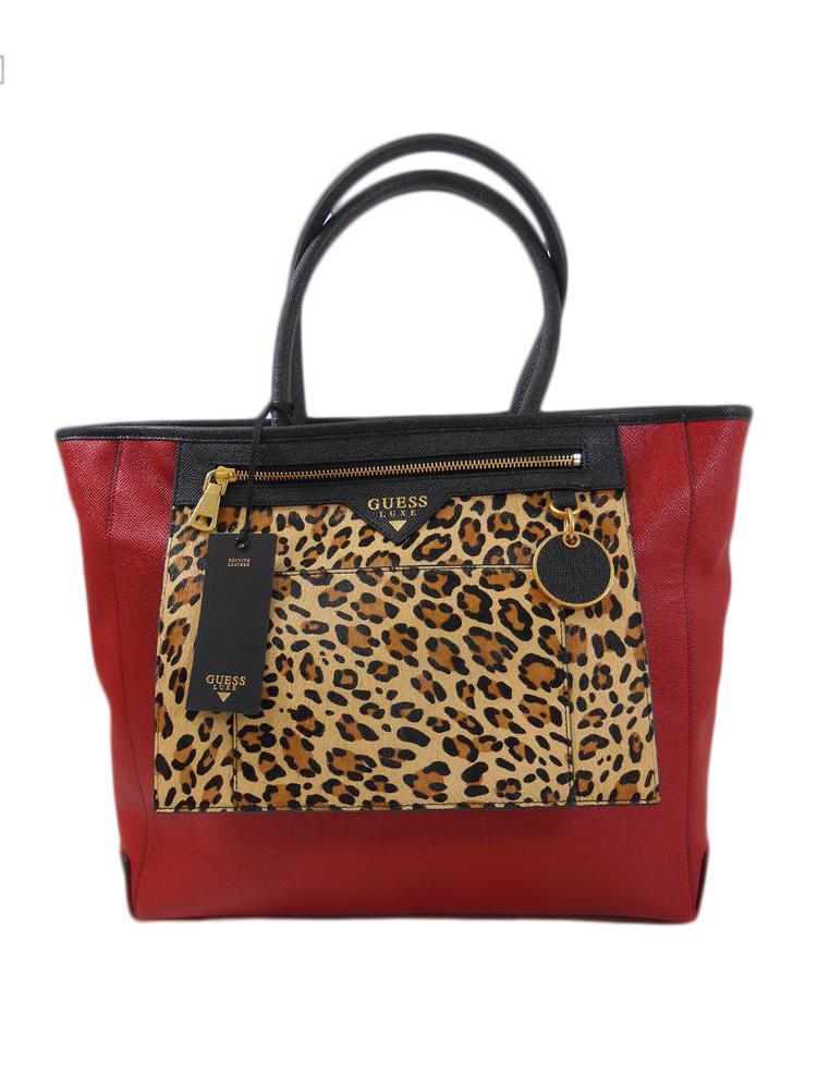 Dresslix Pelle A294 Rosso Shopping Bag Maculata Luxe Guess qfzA6