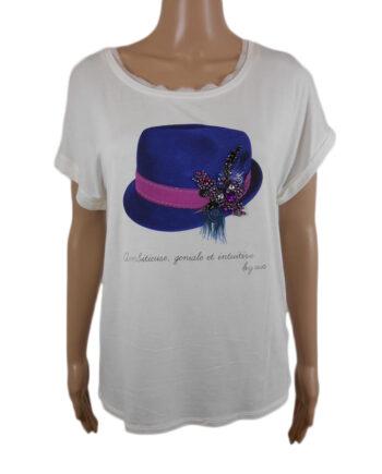 T-SHIRT LIU JO JEANS DONNA BIANCA CAPPELLO TG S,t-shirt donna liu jo,abbigliaento firmato prezzo più basso,reso facile,acquisti sicuri,spedizione rapida,dresslix shop online