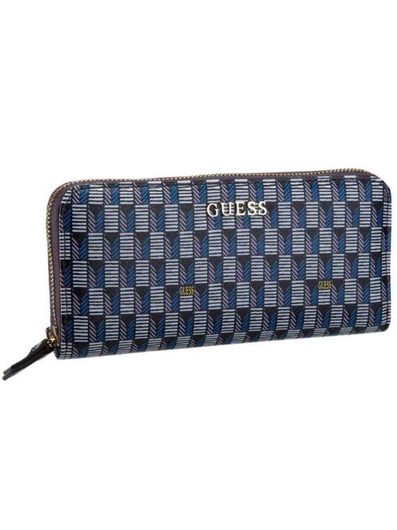 Portafoglio GUESS Donna Jet Set Ecopelle Blu,portafoglio donna guess,accessori firmati prezzo più basso,prezzo outlet guess,solo prodotti 100% originali