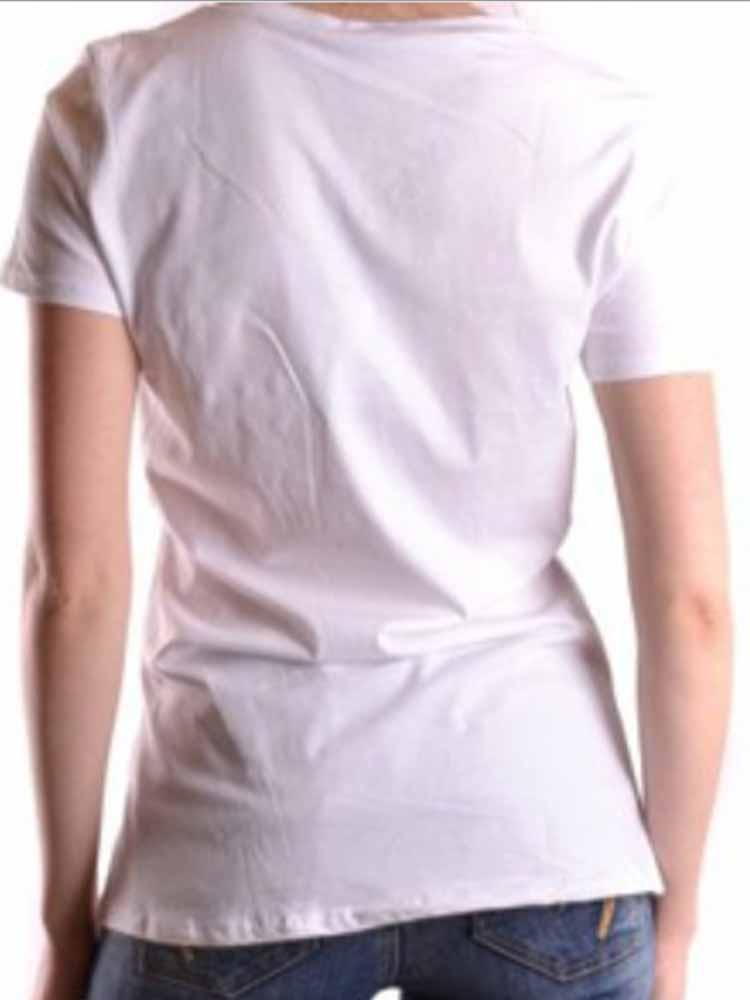 T-Shirt LIU JO JEANS Strass Stampa Cuore Donna Tg 44 M 4fcfafaa5d0