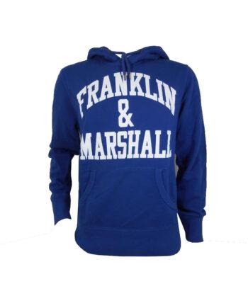 Felpa Franklin Marshall Uomo Cappuccio Blu Scritta tg L Uomo,Felpa F&M Uomo,Abbigliamento Uomo Firmato Prezzo Più Basso,Spedizione Rapida,Acquisti Sicuri