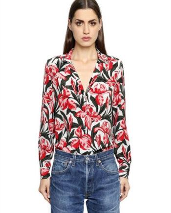 CAMICIA EQUIPMENT SETA FIORI ROSA TG S,camicia donna equipment,abbigliamento firmato prezzo più basso,spedizione rapida,acquisti sicuri, Dresslix.com shop online