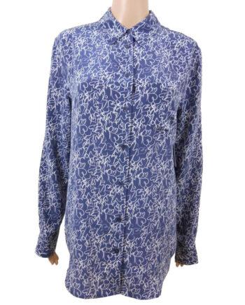 CAMICIA EQUIPMENT SETA CUORI BIANCHI TG S,camicia donna equipment,abbigliamento firmato prezzo più basso,spedizione rapida,acquisti sicuri, Dresslix.com shop online