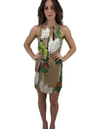 ABITO Donna MANILA GRACE SETA SCOLLO AMERICANA tg xs,s,m,abbigliamento firmato prezzo più basso,spedizione rapida,acquisti sicuri,vestito manila donna