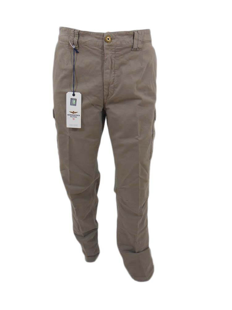 Pantalone Aeronautica Militare Uomo Beige taschino Tg 48 M