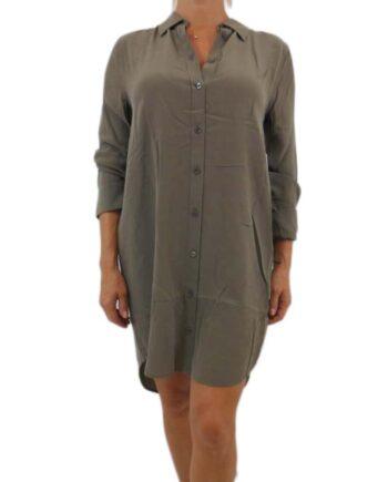 CAMICIA ABITO DONNA EQUIPMENT VERDE MILITARE TG S,camicia donna equipment,abbigliamento firmato prezzo più basso,spedizione rapida,acquisti sicuri,Dresslix.com shop