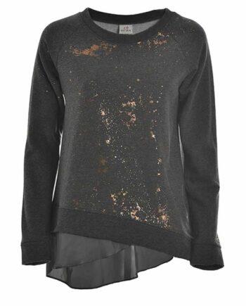 FELPA DEHA Donna Girocollo Piombo tg XS,XL,maglia donna deha,abbigliamento firmato prezzo più basso,spedizione rapida,acquisti sicuri,resi facili,Dresslix