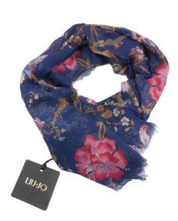FOULARD Liu Jo Donna Stampa Floreale Blu,foulard donna liu jo,accessori firmati prezzo più basso,acquisti sicuri,100% originali,spedizione rapida,pagamenti facili e sicuri