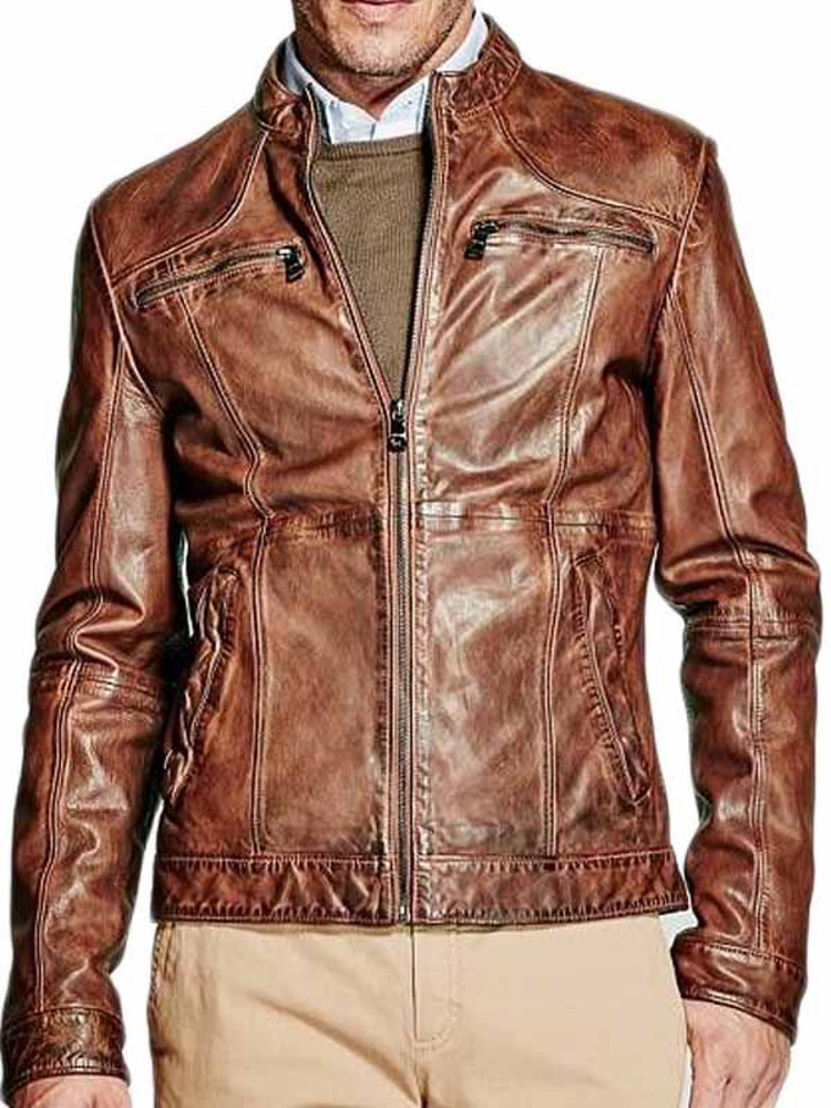 d352d3d539 Giacca Pelle MARCIANO GUESS Uomo Marrone tg S,M,L A1/44