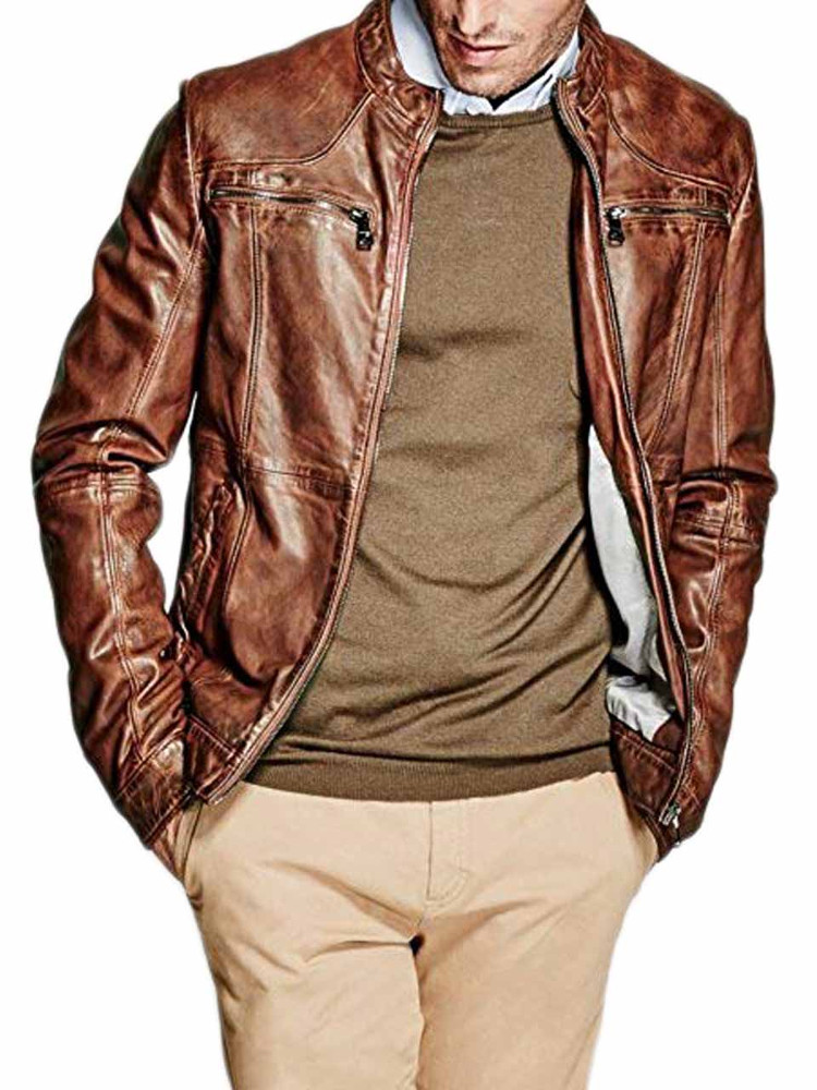 wholesale dealer b7293 db1a7 Giacca Pelle MARCIANO GUESS Uomo Marrone tg S,M,L A1/44