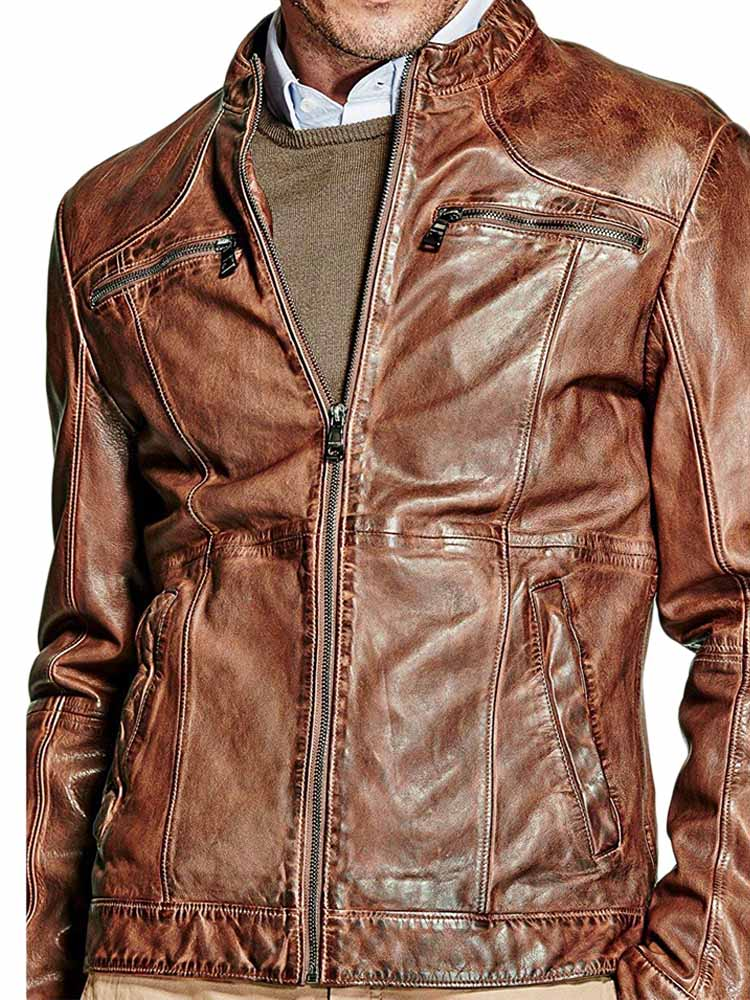 wholesale dealer f868e be845 Giacca Pelle MARCIANO GUESS Uomo Marrone tg S,M,L A1/44