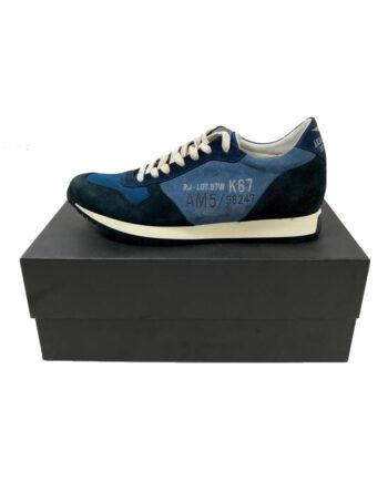 Scarpe Aeronautica Militare Sneakers Camoscio Blu è disponibile nel numero 46.Calzatura uomo AM.100% originali,resi facili,acquisti sicuri,spedizione rapida