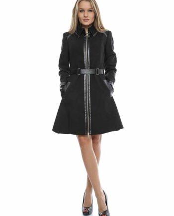 8cd9be575f8547 Cappotto MARCIANO GUESS Donna Lungo Nero tg 48,vestito donna  guess,abbigliamento firmato prezzo