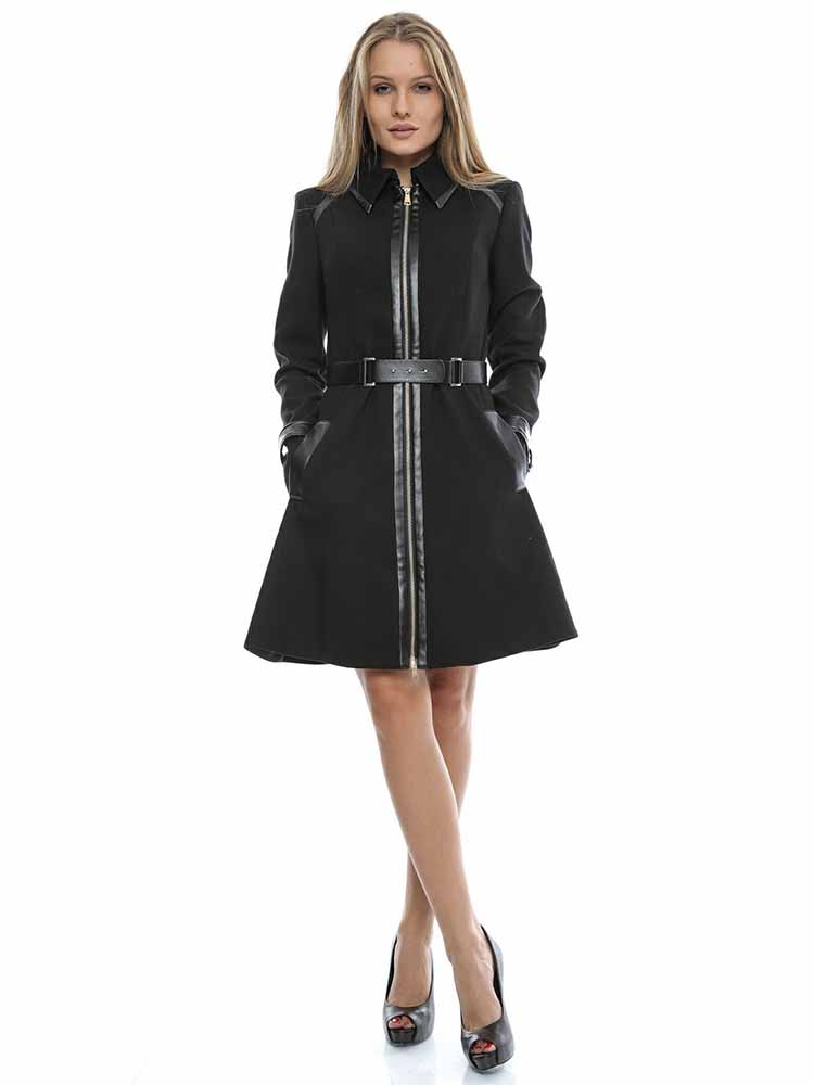 best service ab77b be440 Cappotto MARCIANO GUESS Donna Lungo Nero tg 48 Q2/25