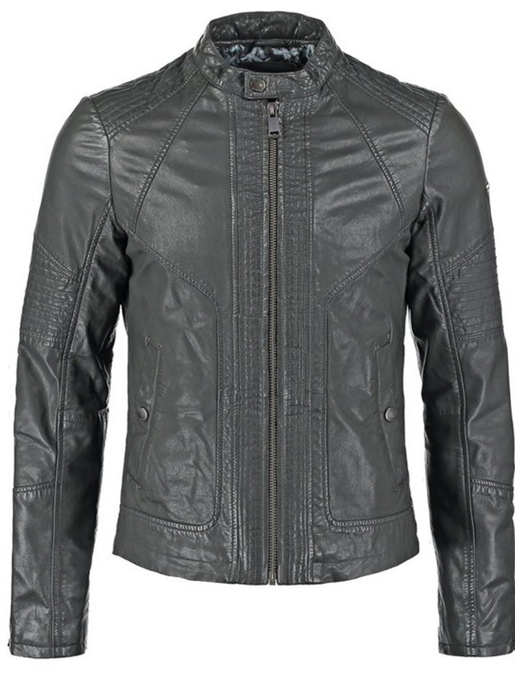 huge selection of 8d6a7 23b02 Giacca Pelle GUESS Los Angeles Biker Uomo Grigio tg XS, S G1/47