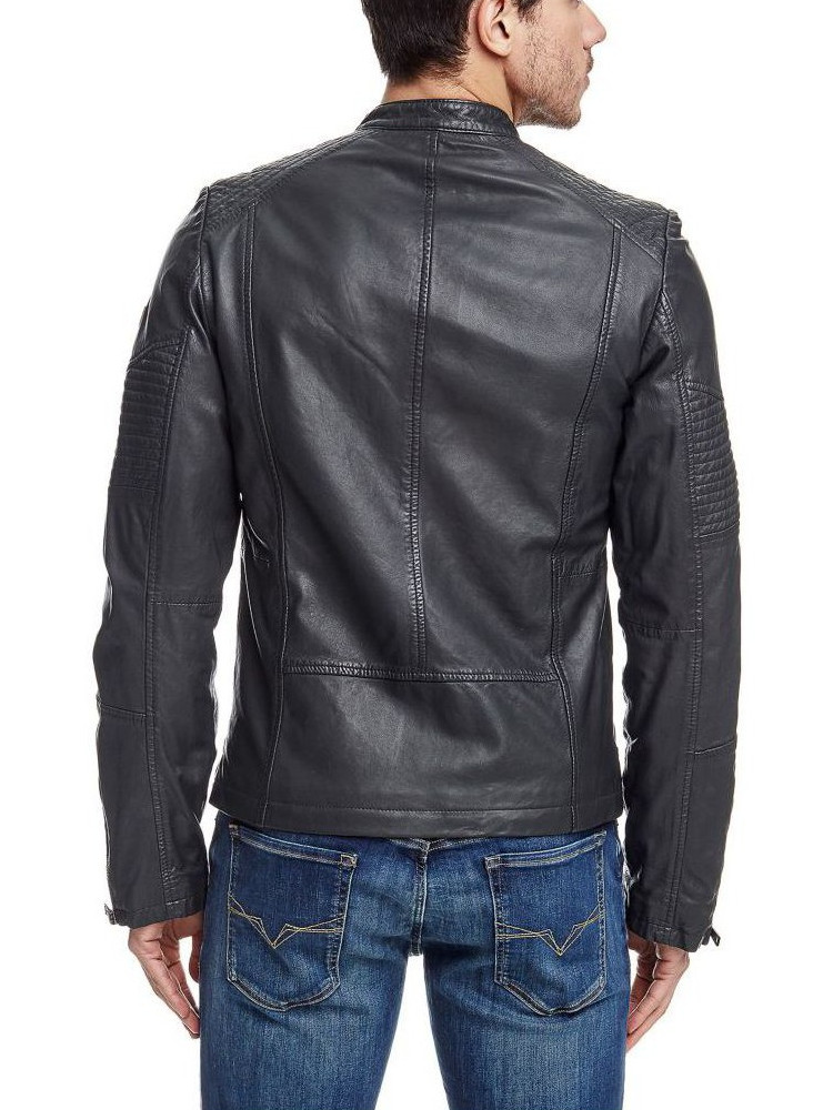 huge selection of 5f513 2fa31 Giacca Pelle GUESS Los Angeles Biker Uomo Grigio tg XS, S G1/47