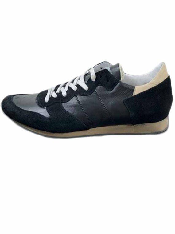 Scarpe Aeronautica Militare Sneakers Camoscio Nere Beige n. 45,scarpa uomo aeronautica militare,accessori firmati prezzo più basso,spedizione rapida
