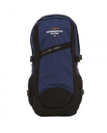 Zaino Aeronautica Militare Blu Nero è in poliammide,bretelle regolabili e un manico,logo sul davanti,chiusura doppia zip.resi facili,acquisti sicuri