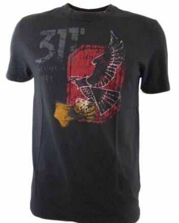 T-Shirt Aeronautica Militare Uomo Nera Aquila Rossa Tg L 50,Maglia Uomo cotone AERONAUTICA MILITARE,Abbigliamento Uomo Firmato,Miglior Prezzo