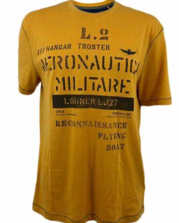 T-Shirt Aeronautica Militare Uomo Gialla Blu Tg 3XL,Maglia Uomo Aeronautica Militare,Abbigliamento Uomo Firmato,Miglior Prezzo,Acquisti Rapidi e Sicuri