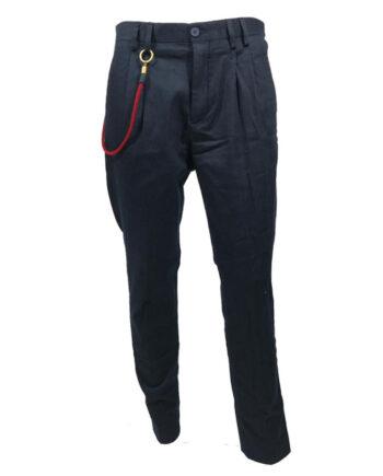 PANTALONE GUESS UOMO CHINO BLU CATENA ROSSA,pantalone uomo guess,abbigliamento firmato prezzo più basso,resi facili,prezzi outlet guess