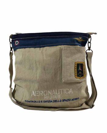 Borsa Tracolla Aeronautica Militare Frecce Tricolori Beige,borsa aeronautica militare uomo,accessori firmati prezzo più basso,100% originali,resi facili