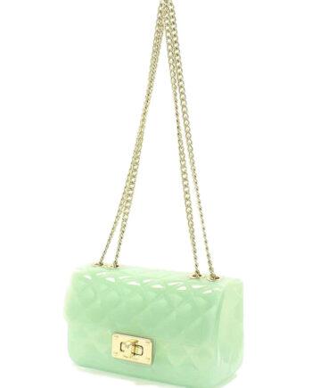 Borsa TWIN-SET CLUTCH PVC Verde,Twin-set clutch pvc, borsa twin set donna,accessori moda prezzi di stock,acquisti sicuri,spedizione rapida,resi facili
