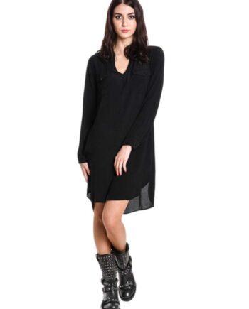 Abito Manila Grace Donna Cloe Coreana Nero,vestito lungo manila grace,abbigliamento firmato prezzo più basso,prezzo outlet manila grace,resi facili