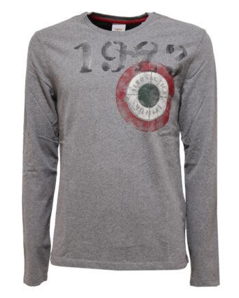 T-shirt AERONAUTICA MILITARE Uomo Grigia 1923,Maglia Aeronautica Militare uomo,abbigliamento firmato prezzo più basso,spedizione rapida