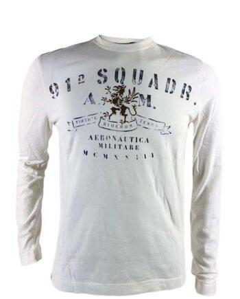 T-shirt AERONAUTICA MILITARE Uomo Bianca 1 Squadra AM,Maglia Aeronautica Militare uomo,abbigliamento firmato prezzo più basso,maglia am