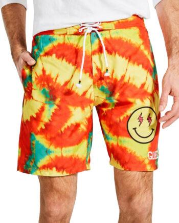 Costume Mare Pantaloncini GUESS Uomo Tie-Dye,tessuto tecnico, logo sulla parte laterale sinistra,costume uomo prezzo più basso,100% originale guess
