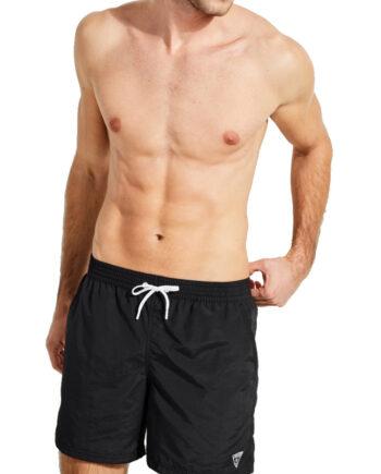 Costume Mare Pantaloncini GUESS Uomo Nero,tessuto tecnico, logo sulla parte laterale sinistra,costume uomo prezzo più basso,100% originale guess