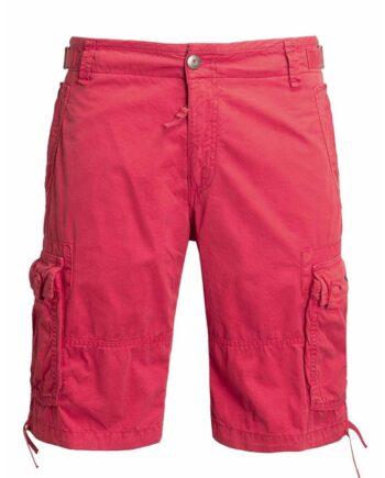 PANTALONE BERMUDA Aeronautica Militare Uomo Rosso Tasche Virtute Siderum Tenus,pantalone corto uomo AM,abbigliamento firmato uomo,miglior prezzo