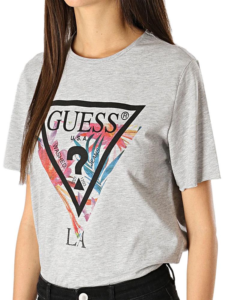 T-SHIRT GUESS DONNA LA Jeans Grigia TG S 42, M 44, L 46 A2 ...