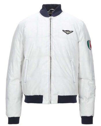 PIUMINO AERONAUTICA MILITARE UOMO Bomber Bianco Tricolore,Cappotto Aeronautica Militare Uomo,abbigliamento firmato prezzo più basso,acquisti sicuri