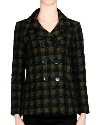 Giacca ANIYE BY Donna Pied de Poule Tweed Doppiopetto,giacca donna aniye by,prezzo outlet aniye by,abbigliamento prezzo più basso,tessuti pregiati