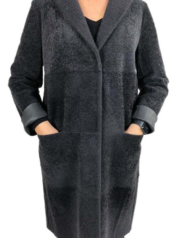 Montone Fabiana Filippi Donna Real Shearling Nero,pelliccia montone fabiana filippi,abbigliamento firmato prezzo più basso,prezzi outlet fabiana filippi
